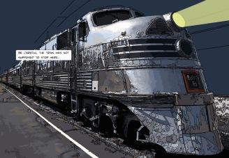 Silver train -- Medium 90x60 229€ // Large 130x90 429€