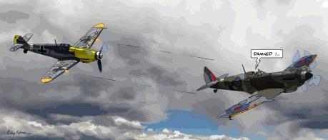 """Combat aérien """"damned"""" -- Medium 90x40 189€ // Large 140x60 389€"""