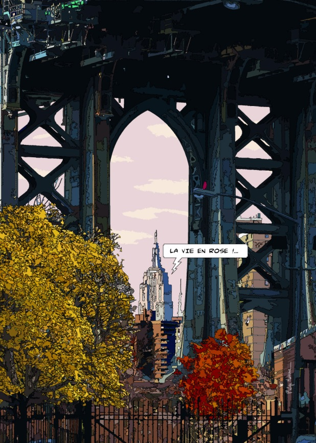 "Manhattan bridge ""la vie en rose"" -- Medium 70x100 259€ // Large 100x140 429€"
