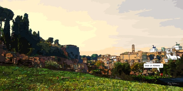 Rome skyline -- Medium 120x60 299€ // Large 160x80 479€
