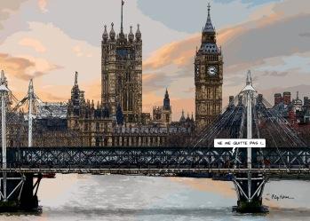 """Big Ben """"Ne quitte pas"""" -- Medium 100x70 259€ // Large 140x100 429€"""