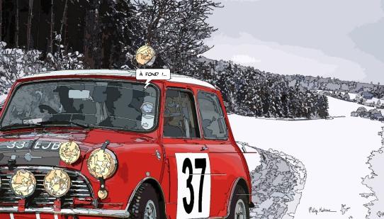 Mini Cooper A fond -- Medium 90x50 219€ // Large 140x80 429€
