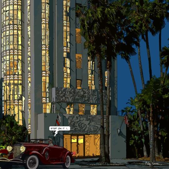 Duesenberg Sunset Tower-- Medium 80x80 239€ // Large 100x100 299€