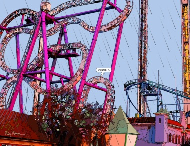 Roller Coaster Encore -- Medium 90x70 249€ // Large 130x100 429€