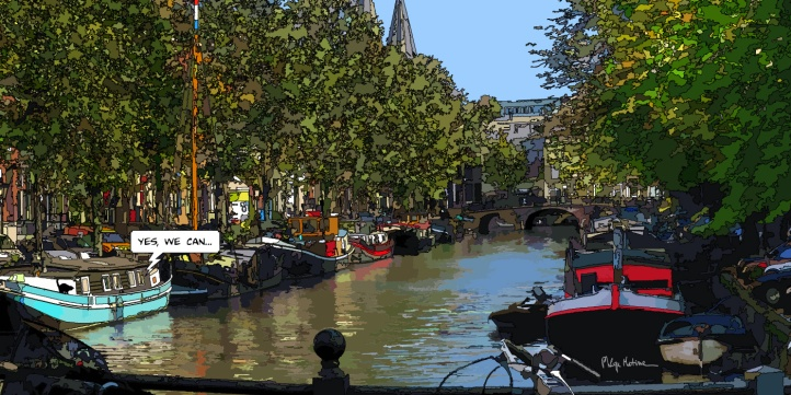 Amsterdam Péniches-- Medium 100x50 229€ // Large 140x70 399€ // XLarge 200x100 529€